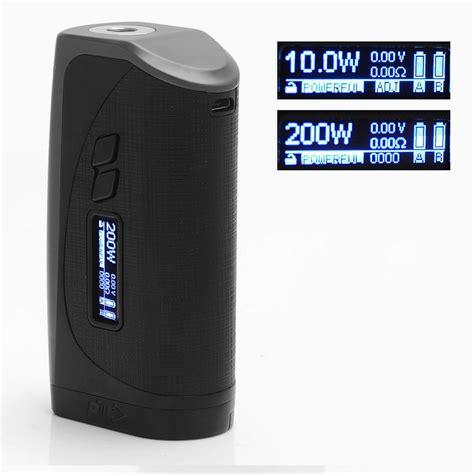 Mod Ipv Vesta 200 Watt authentic pioneer4you ipv vesta 200w gun metal tc vw 18650 box mod