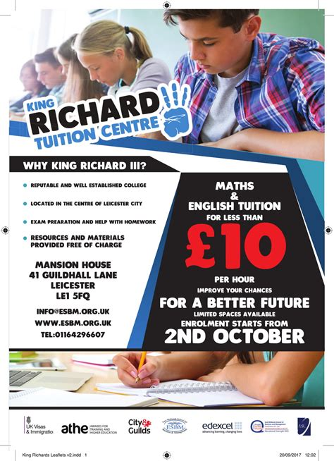 Leicester Business School Mba by King Richard Tuition Centre Mansion House 41 Guildhall