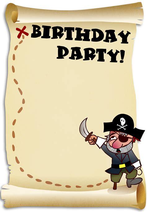 Pirate Birthday Card Template free printable birthday invitation and