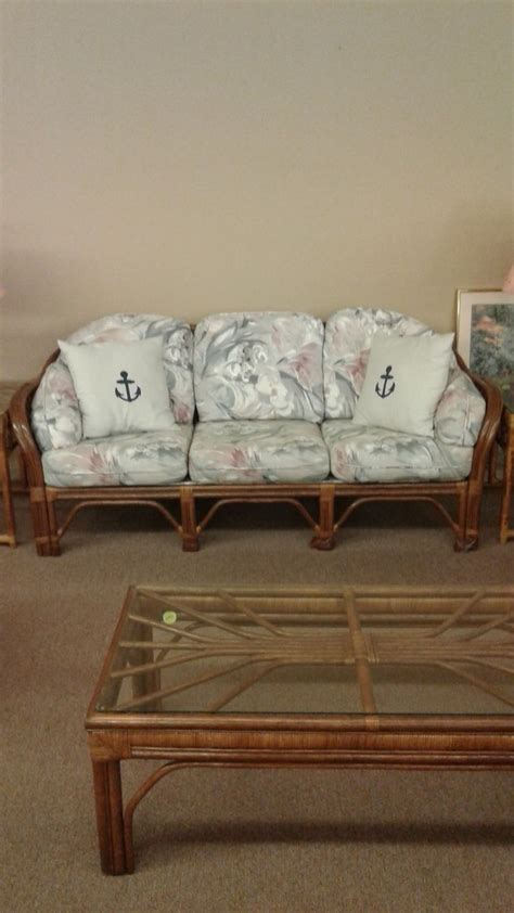 bench craft rattan sofa delmarva furniture consignment