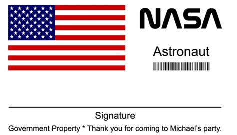 nasa id card template kindergarten 84 best images about space birthday ideas on