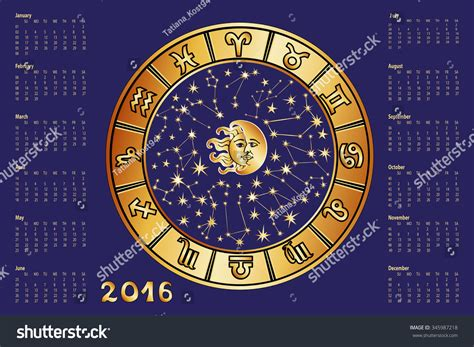 new year zodiac calendar 2016 new year calendar horoscope circle with zodiac sign
