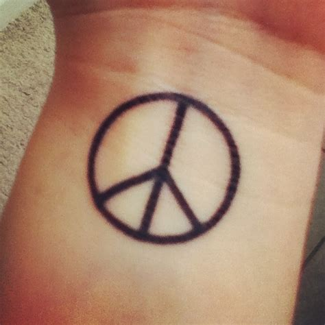 peace tattoos on wrist peace images designs