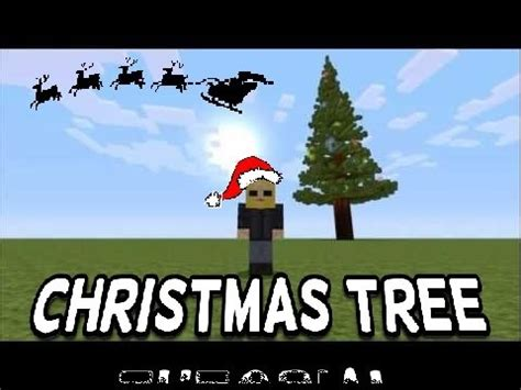 minecraft christmas tree with flashing colored lights