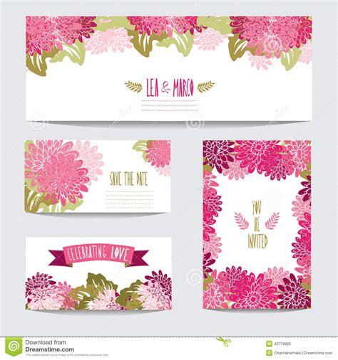 Gerbera Designs Xl Messenger by Floral Cards Set Stock Vector Image Of Banner Border