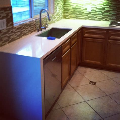 silestone countertop with waterfall edge kitchen ideas pinterest