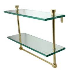 bathroom glass shelves allied brass mfg glass bathroom shelf w towel bar