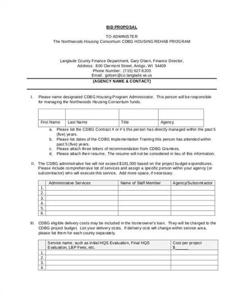 28 standard rfp template contract template 9 free sles