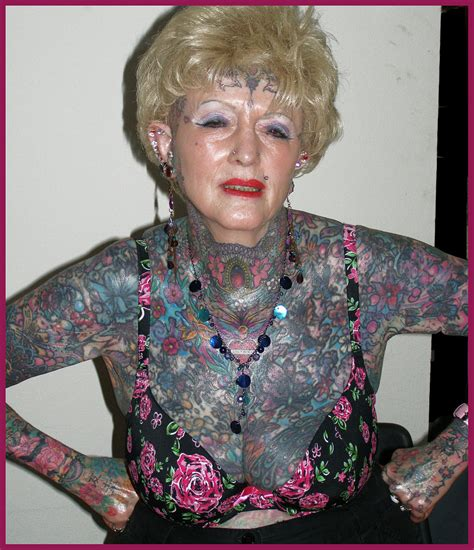 most tattooed woman the most tattooed senior of the world