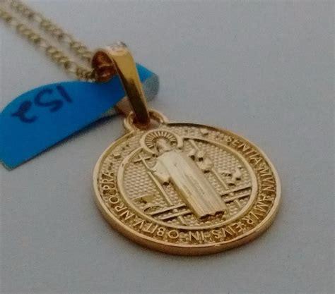 cadena oro 14k cadena y dije medalla san benito oro 14k 2 133 00 en