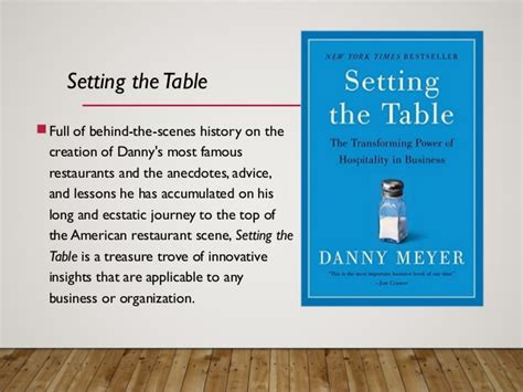 setting the table danny meyer book setting the table