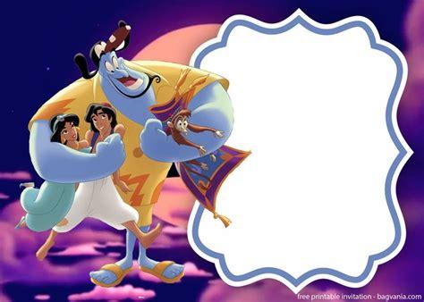 printable aladdin  jasmine invitation template