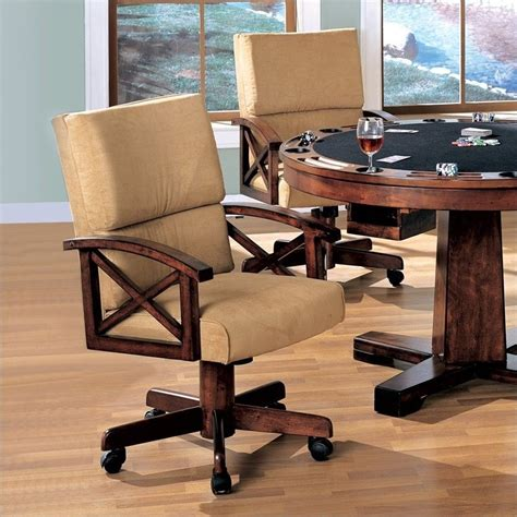 free dining room chairs with casters and arms dining room chairs with casters leather coaster marietta upholstered arm game chair with casters