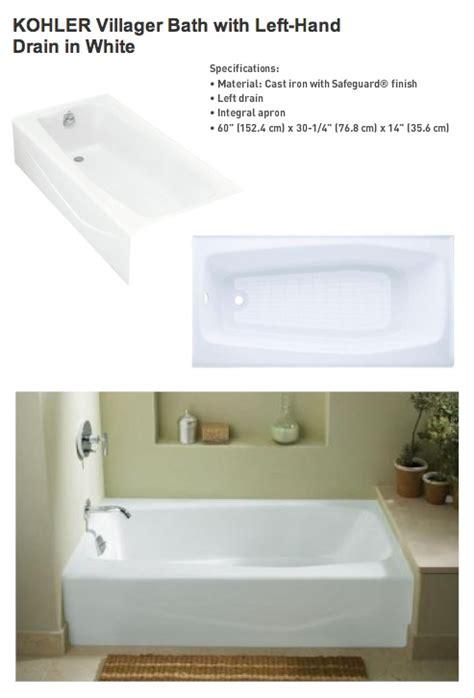 kohler villager bathtub kohler villager tub 349 bathroom remodel ideas