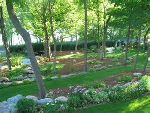 sloping backyard design sloping escape this was a wooded sloping lot and my husband had the