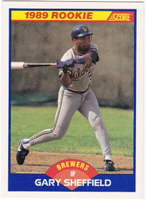 gary sheffield swing swing and a pop up the cardsone chronicles baseball