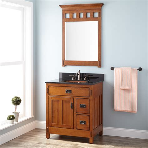 craftsman style bathroom mirrors 30 quot american craftsman vanity for rectangular undermount