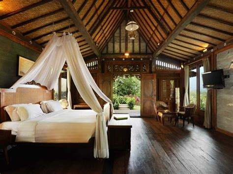 desain kamar hotel resort yang bernuansa etnik jawa desain interior rumah tradisional yang eksotis dan menawan