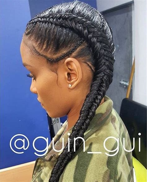 Two Cornrow Braided Hairstyle | 121 best images about goddess braids on pinterest ghana