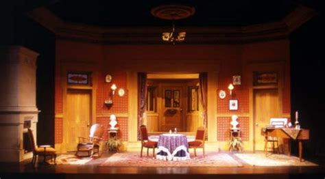 a doll house setting theatre design don larew university archives
