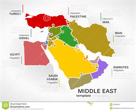 middle east map free middle east map stock vector image of jigsaw template