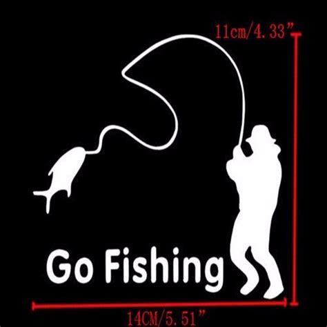 Lustige Motorrad Aufkleber by Cartoon Lustige Go Fishing Vinyl Car Graphic