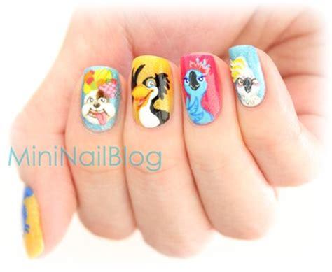 rio nail art tutorial diy despicable me nails bath and body