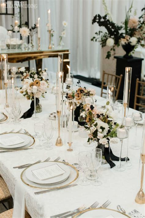 Modern Black and White Wedding   ElegantWedding.ca