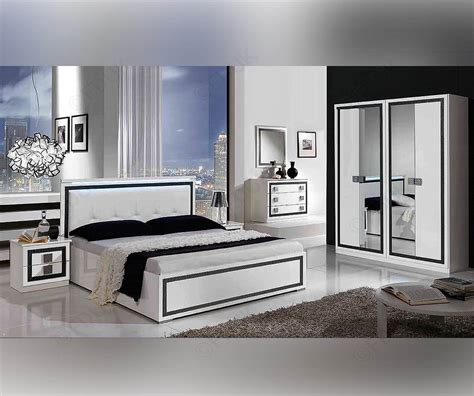 Italian White Bedroom Furniture by Mcs Thema Thema White Finish Italian Bedroom Set