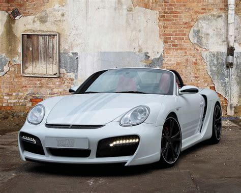 porsche boxster widebody techart conversion wide kit w washers park assist