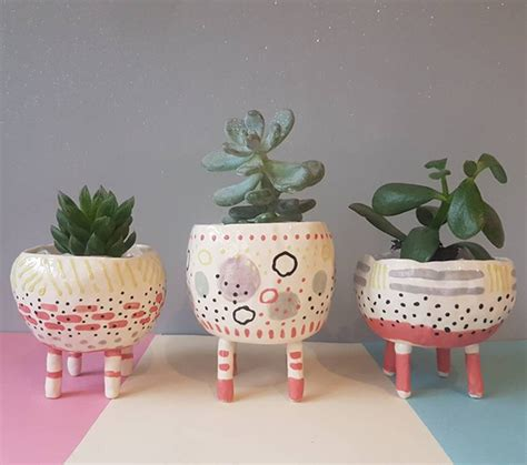 10 In Ceramic Planter by 10 Handmade Ceramic Plant Pots Available On Etsy Upcyclist