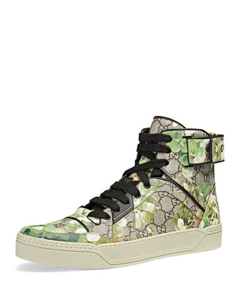 Gucci Gg Blooms Floral Flats 268 3 gucci blooms printed canvas high top sneaker multi