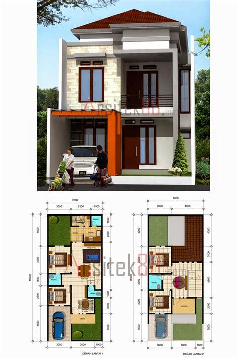 desain rumah minimalis 2 lantai 3 dimensi gambar foto desain rumah