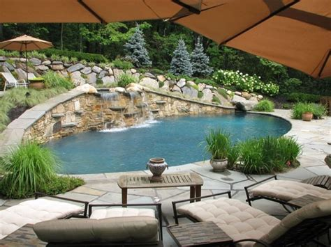 Landscape Design With Pool Gerbie Plan Small Yard Landscaping Ideas Hillsides In