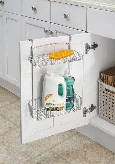 kitchen sink storage ideas under the kitchen sink organizing ideas and storage solutions