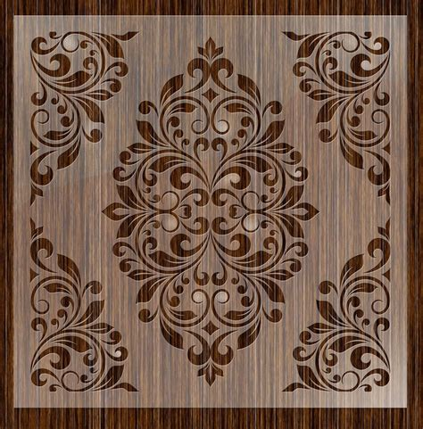 Paisley Home Decor by Fantasy Stencils 24 Damask Large Wall Stencils Ebay