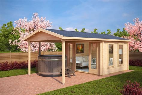 summer home summer house with canopy nora e 9m 178 44mm 3 x 3 m