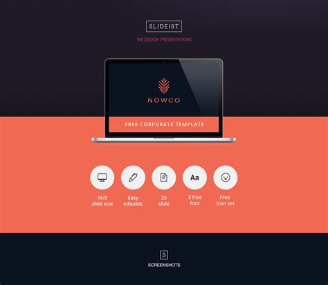 Nowco Free Powerpoint Presentation Template On Behance Free Powerpoint Templates For