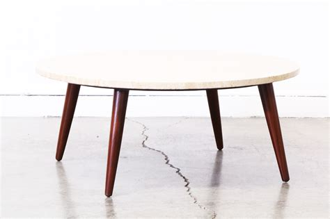 Mid Century Round Marble Top Coffee Table Vintage Supply Marble Top Coffee Tables
