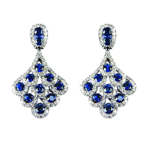 and sapphire drop earrings ref lge109