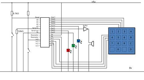 electronic keypad lock circuit diagram digital