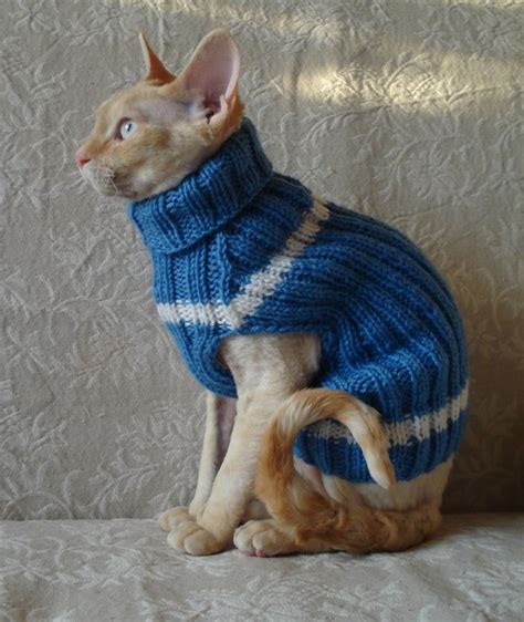 Cat Handmade - handmade cat small jumper sweater coat wool turtle
