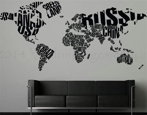 world map decal large world map wall sticker kamos sticker