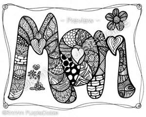 zendoodle coloring pages items similar to printable color page zen doodle design