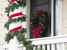 christmas column wraps wrap wide ribbon around poles and columns for a look decor crafts