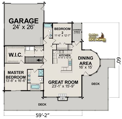 home floor plans carolina golden eagle log and timber homes floor plan details