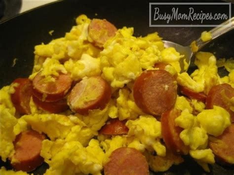 scrambled eggs for dogs scrambled eggs with sliced dogs recipe