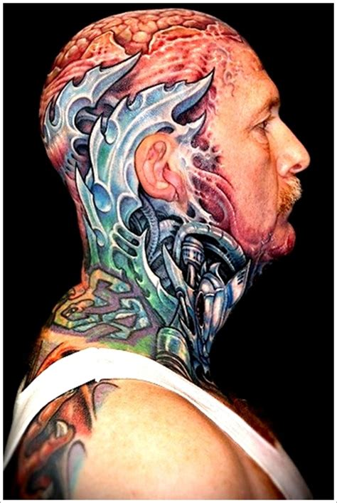 35 bio mechanical tattoo designs