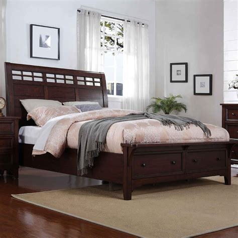winners only retreat king sleigh storage bed with two drawers dunk bright furniture