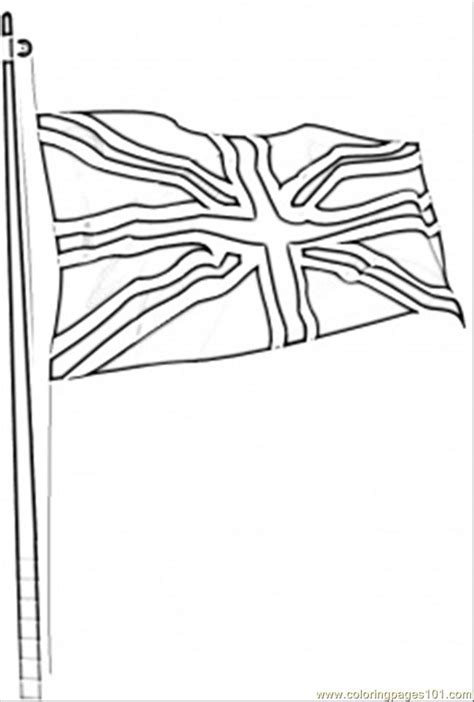 flag of great britain coloring page free printable